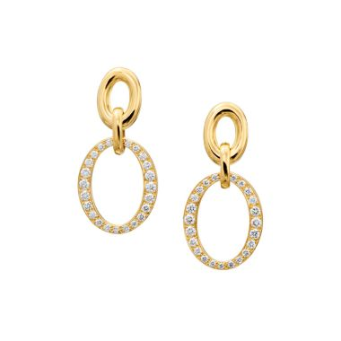 Gumuchian Carousel 18k Gold Double Link Earrings