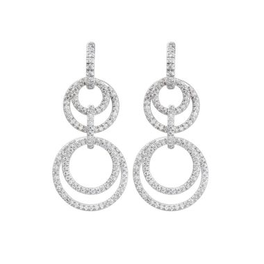 Gumuchian Moon Phase 18kt white gold and diamond convertible Earrings