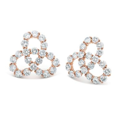 Gumuchian Twirl 18k Rose Gold Diamond Earrings