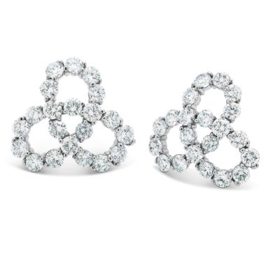 Gumuchian Twirl 18k White Gold Diamond Earrings