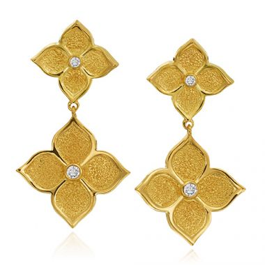 Gumuchian 18k Yellow Gold Diamond Dangle Earrings
