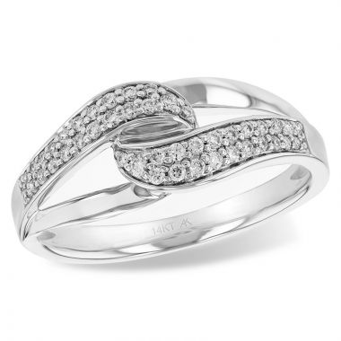 Allison Kaufman 14k White Gold Diamond Ring
