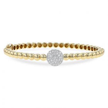 Allison Kaufman 14k Yellow Gold Diamond Bracelet