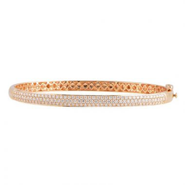 Allison Kaufman 14k Rose Gold Diamond Bangle Bracelet
