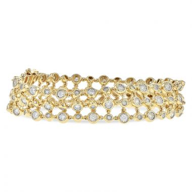 Allison Kaufman 14k Yellow Gold Diamond Bracelet