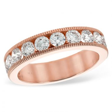 Allison Kaufman 14k Rose Gold Eternity Wedding Band