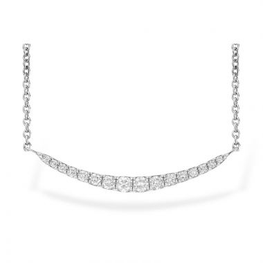 Allison Kaufman 14k White Gold Diamond Necklace