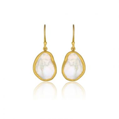 Lika Behar 24k Yellow Gold Pearl Drop Earrings