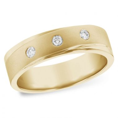 Allison Kaufman 14k Yellow Gold Diamond Wedding Men's Band