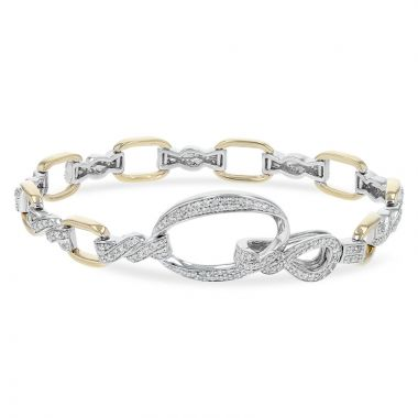Allison Kaufman Two Tone 14k Gold Diamond Bracelet