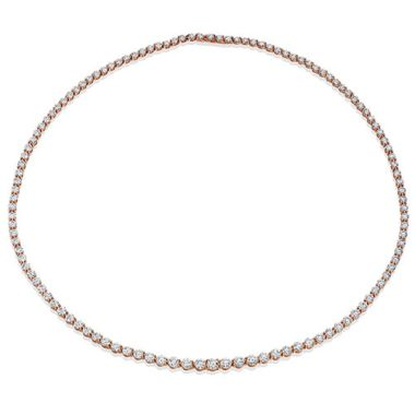 Gumuchian Cascade Riviera 18k Rose Gold Diamond Necklace