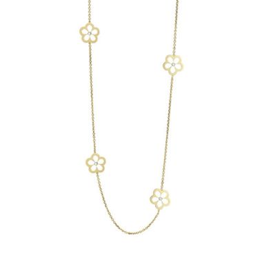 Gumuchian G. Boutique 18k Yellow Gold Diamond Daisy Necklace