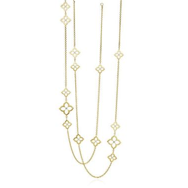Gumuchian G. Boutique 18k Yellow Gold Diamond Lotus Multi Length Necklace