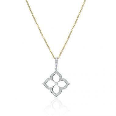 Gumuchian G. Boutique 18k Two Tone Gold Diamond Lotus Necklace