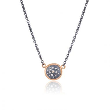 Lika Behar 22k Rose Gold and Sterling Silver Diamond Necklace