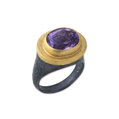 Lika Behar 24k Two Tone Gold and Sterling Silver Gemstone Ring