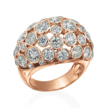 Gumuchian Cloud Nine 18k Pink Gold & Diamond Ring