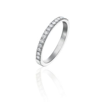 Gumuchian Bridal 18k White Gold Diamond Anniversary Wedding Band