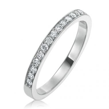 Gumuchian Bridal Platinum Cinderella Diamond Anniversary Wedding Band