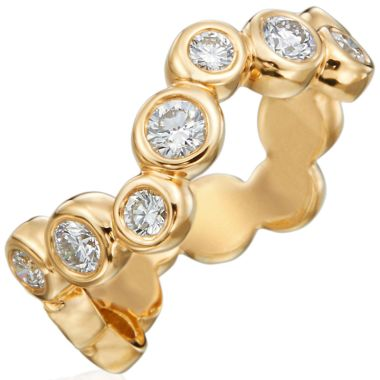 Gumuchian Moonlight 18k Gold Halfway Zigzag Diamond Ring