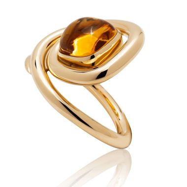 Gumuchian Maze 18k Yellow Gold Citrine Ring