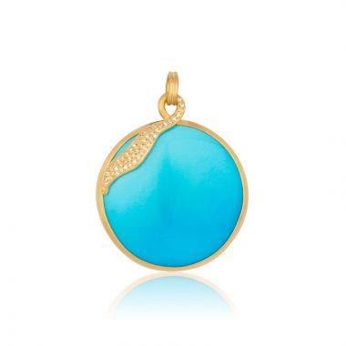 Lika Behar 22k Yellow Gold Diamond and Gemstone Necklace